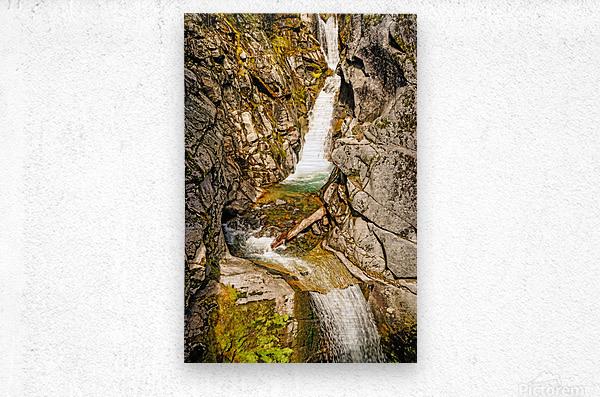 Cascading Falls  Metal print