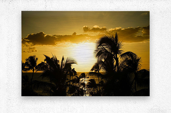Radiant Hawaii  Metal print
