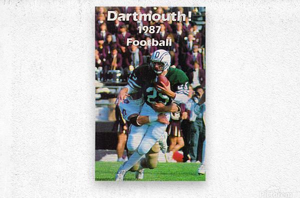1987 Dartmouth Big Green Football Poster  Metal print