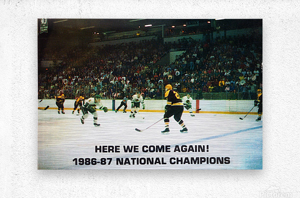 1987 University of North Dakota Hockey  Metal print
