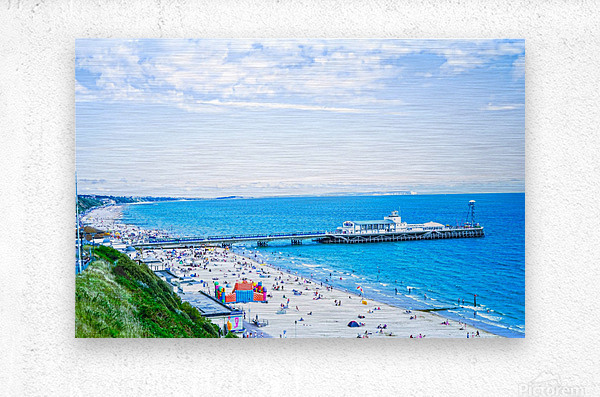 Snaphot in Time Bournemouth  Metal print