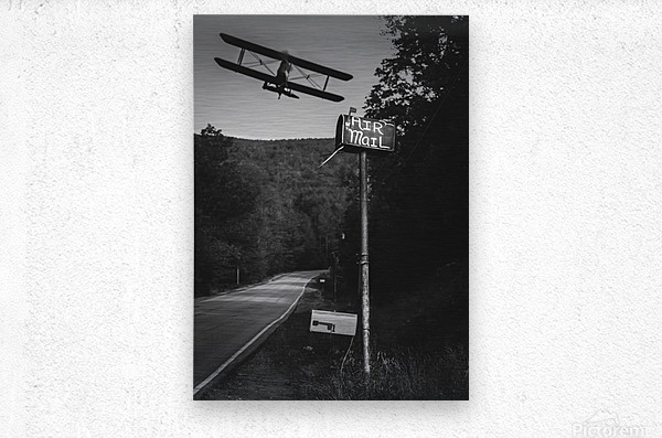 Air Mail Delivery  Metal print