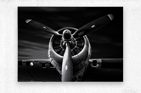 Wright Cyclone Boeing B17  Metal print