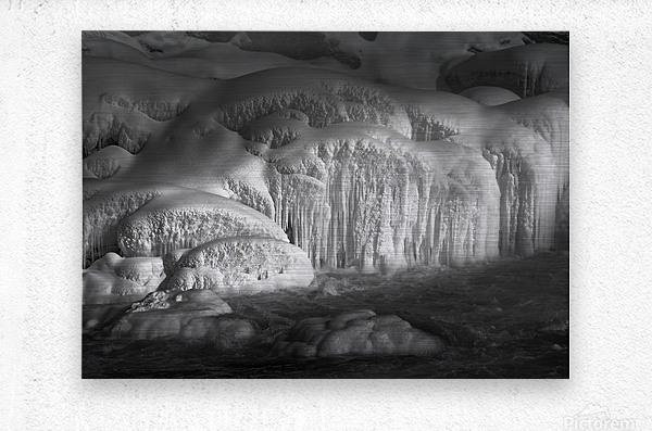 Ice Wall  Metal print