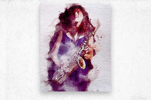 Blues In The Night  Metal print