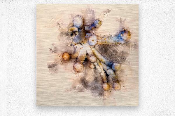 Tasty Mushroom Abstract  Metal print