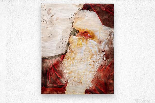Santa Claus Christmas  Metal print