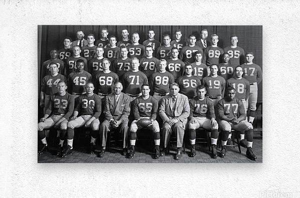1954 University of Michigan Football Team Photo  Metal print