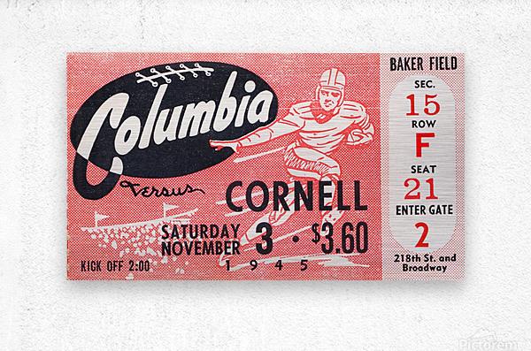 1945 Columbia vs. Cornell  Metal print