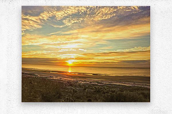 Sunrise in the Carolinas  Metal print