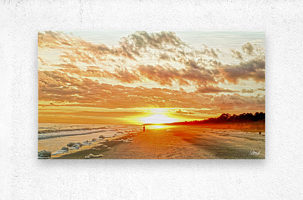 The Day Ends at the Seashore  Metal print