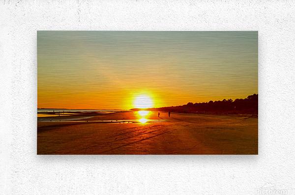 Sunset at the Atlantic Shore  Metal print
