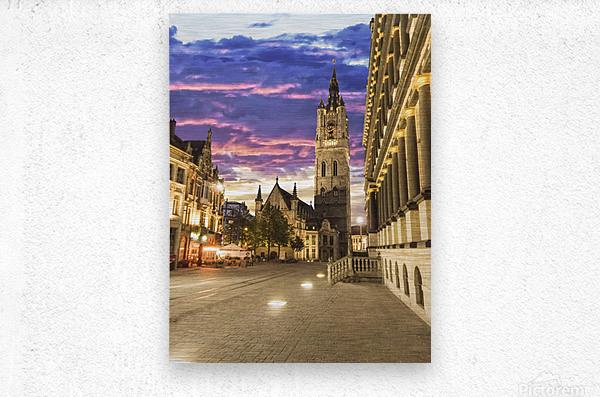 Sunset in Belgium  Metal print