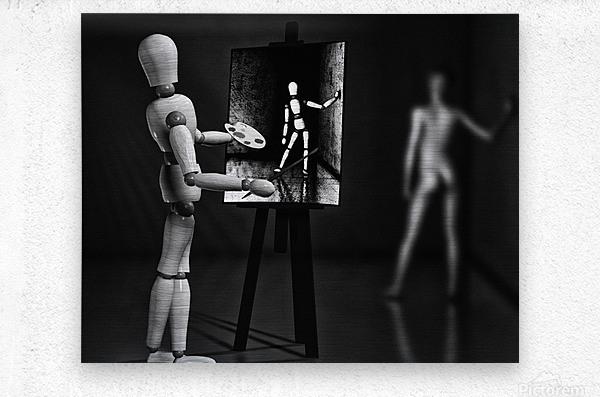 Nude Model  Metal print