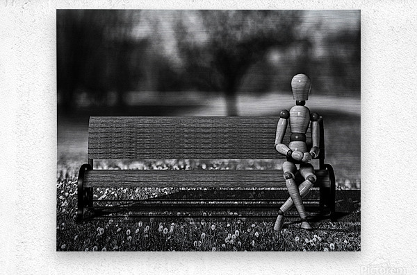 Waiting For The Taxi  Metal print