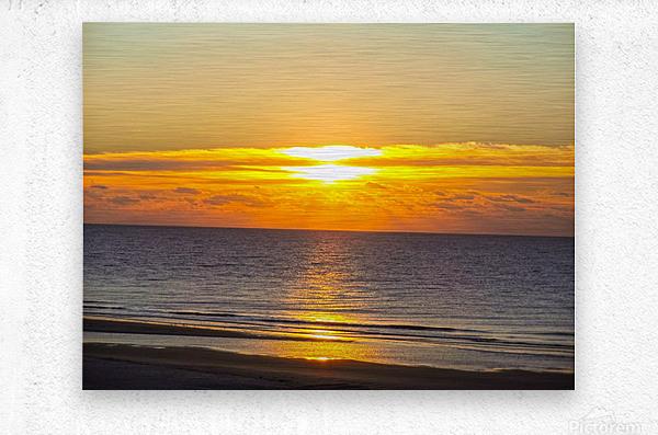 Blue Morning Sunrise  Metal print