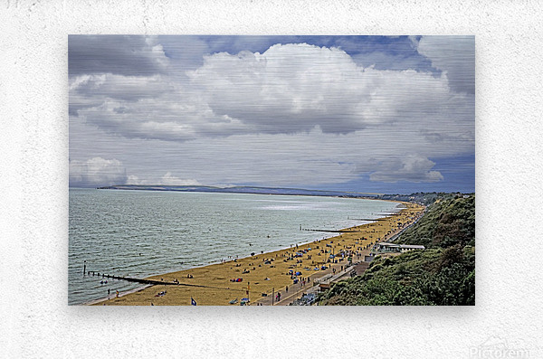 At the Beach in Southern England  Metal print