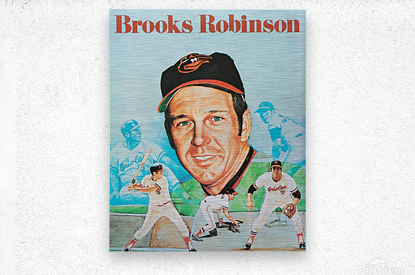 1974 Brooks Robinson Poster  Impression metal