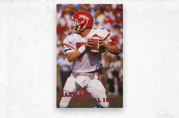 1983 Maryland Football Boomer Esiason  Metal print