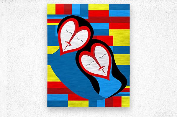 Hearts in Love  Metal print