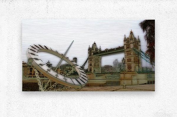 London fine art  - Tower bridge  Impression metal