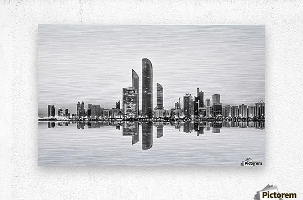 Abu Dhabi Urban Reflection  Metal print