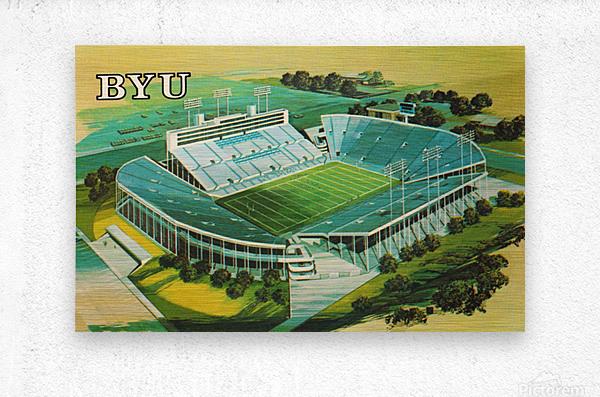 1982 BYU Cougar Stadium Art  Metal print