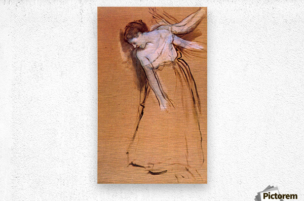 Standing with arms stretched, bent to the side by Degas  Metal print