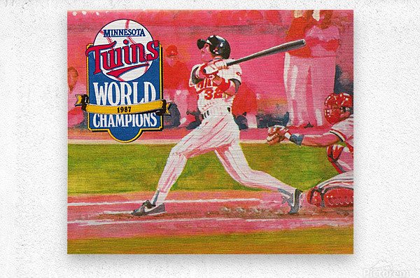 1988 Minnesota Twins Baseball Art  Metal print