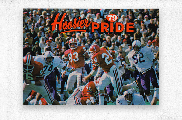 1979 Indiana Hoosiers Football Art  Metal print