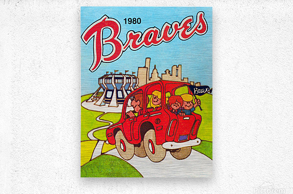 1980 Atlanta Braves Poster  Metal print