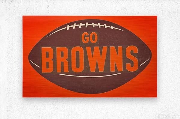 Vintage Cleveland Browns Football Art  Metal print