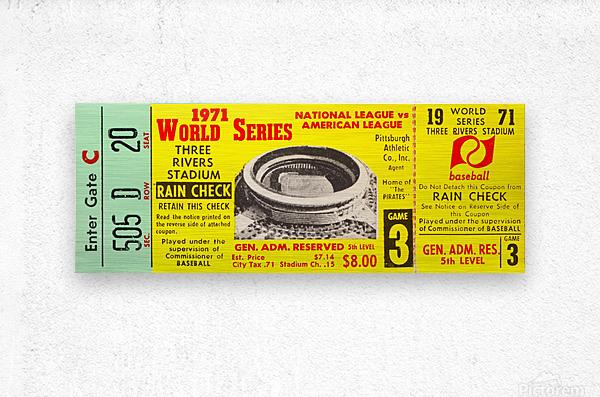 1971 World Series Ticket Stub Wall Art  Metal print