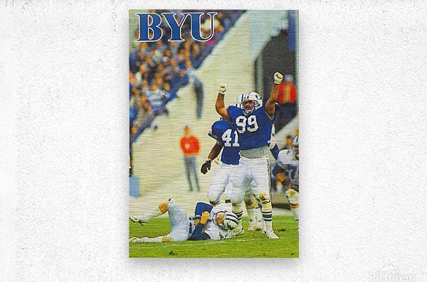 1986 BYU Cougars Football Poster  Metal print