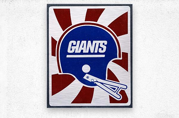 Retro New York Giants Helmet Art  Metal print