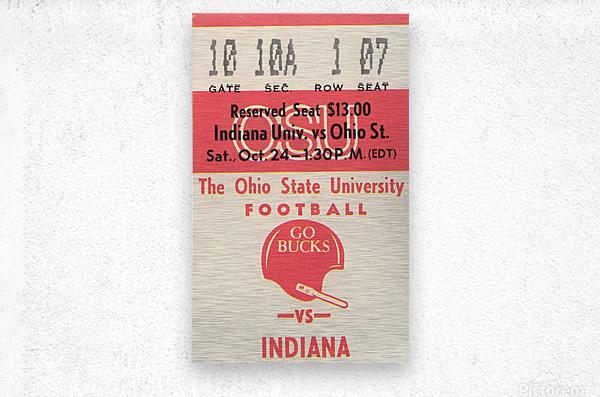 1981 Ohio State vs. Indiana  Metal print