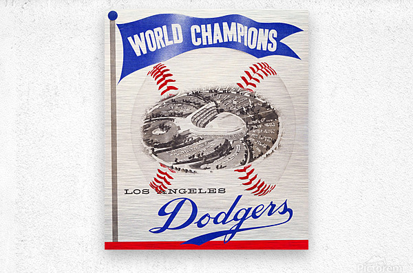 1960 Los Angeles Dodgers Baseball Art  Metal print