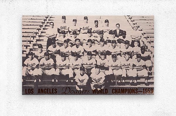 1959 Los Angeles Dodgers Team Photo  Metal print