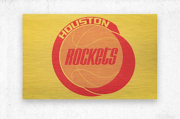 1972 Houston Rockets Art  Metal print