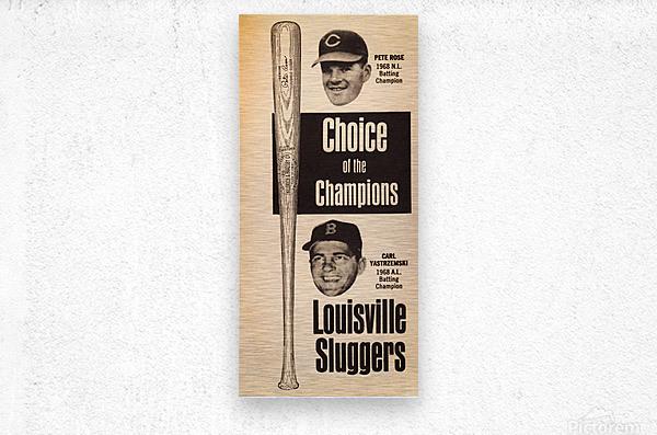 1969 Louisville Slugger Pete Rose Ad  Metal print