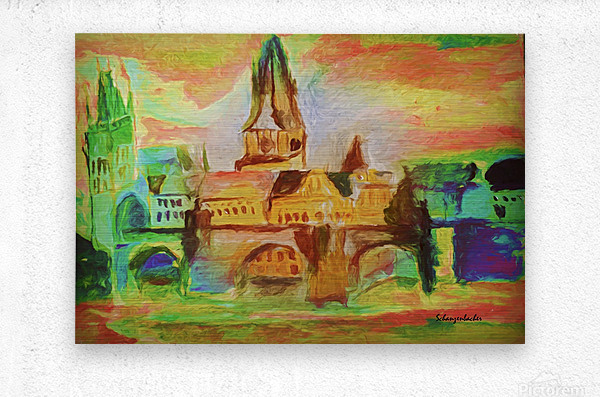 St Charles Bridge   Metal print