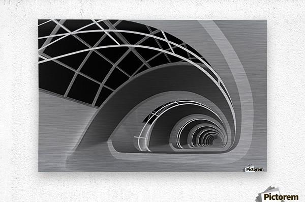 Antwerp-Stairs by jan niezen   Metal print