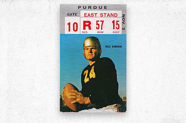 1973 Iowa Hawkeyes Nile Kinnick Ticket Stub  Metal print