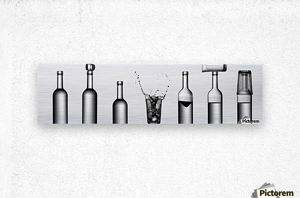 bottles game by Valeriy Kasmasov   Impression metal