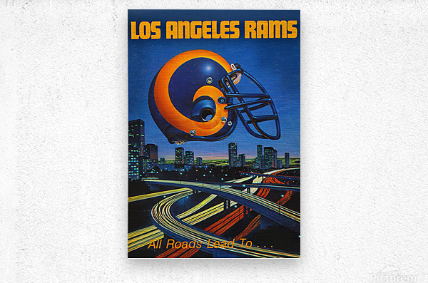 1983 Los Angeles Rams Football Poster  Metal print