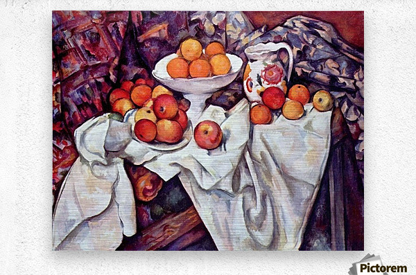 Still Life with Apples and Oranges by Cezanne  Metal print