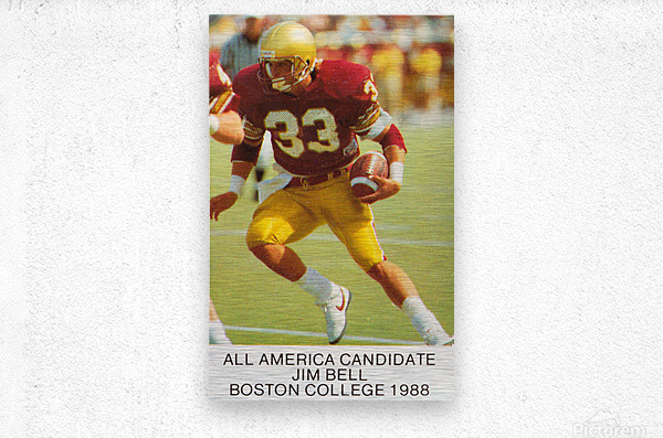 1988 Boston College Football Poster  Metal print