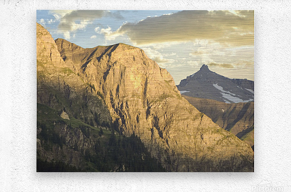 Golden Rays of the Sun on the Swiss Alps in the Bernese Highlands  Metal print