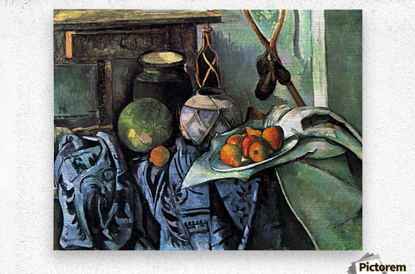 Still life with Eggplant by Cezanne  Metal print