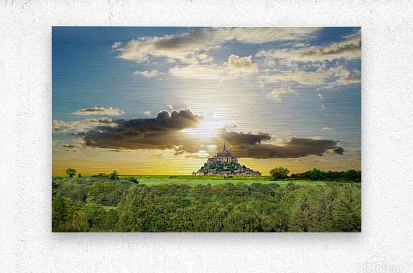 Mount Saint Michael Normandy France - Gallery 2017 Artwork of the Year Winner  Metal print